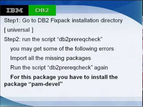 db2 fixpack installation on linux