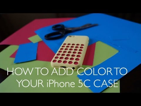 How to add Extra Color to Your iPhone 5c Case For Cheap! (NO MORE 'hon'!)