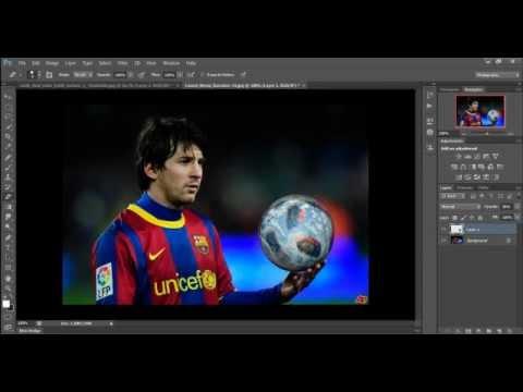 Photoshop Cs6 - Speed Art - Messi rule the world