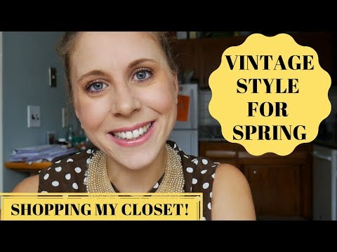 Can I Style 5 Vintage Pieces into Spring Outfits?!