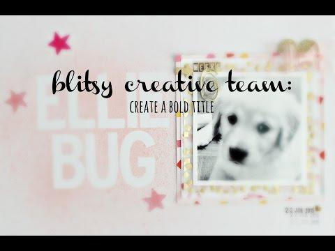 process video: create a bold title