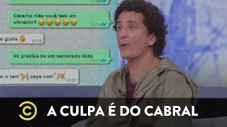 A Culpa é do Cabral - Print de Whatsapp
