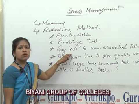 Stress Management BCom, MCom Lecture by Dr. Tripti Vijaywargia.