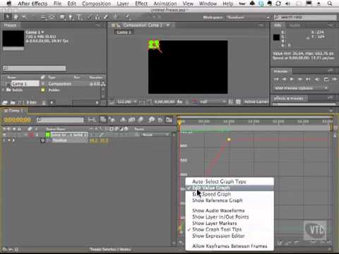 Adobe After Effects CS5 Tutorials - Animation, Graph Editor Part No.8