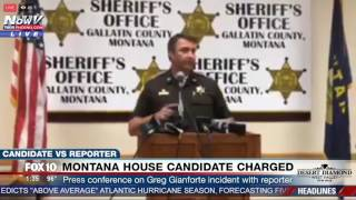 BODY SLAM INCIDENT: Galatin Co. Sheriff PRESS CONFERENCE on Charges Against Gianforte in Montana FNN
