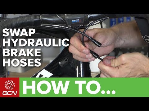 How To Swap Hydraulic Disc Brake Hoses On A Road Bike   Maintenance Monday