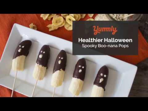 Healthy Halloween: Boo-nana Ghost Pops