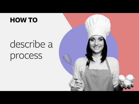 How to... describe a process