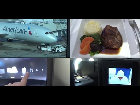 American Airlines Business Class 787 Transpacific AKL LAX Inflight review