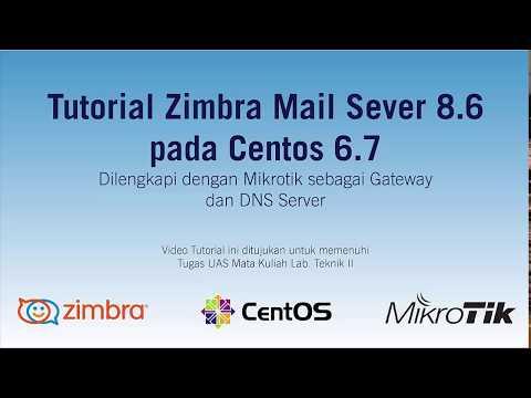 Tutorial Zimbra Mail Server 8.6 pada CentOS 6.7 64 bit