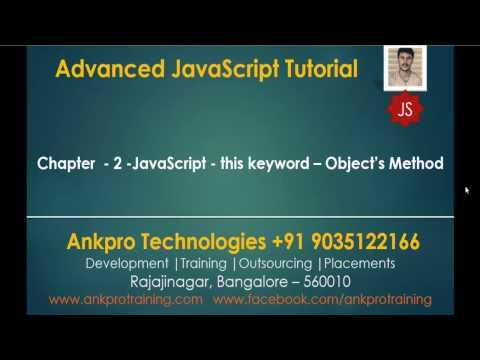 Advanced JavaScript - Chapter 2 - JavaScript - this keyword - Object's Method