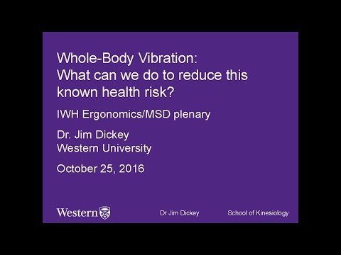 Whole-body vibration: What can we do to reduce this known health risk? (Oct 25, 16)