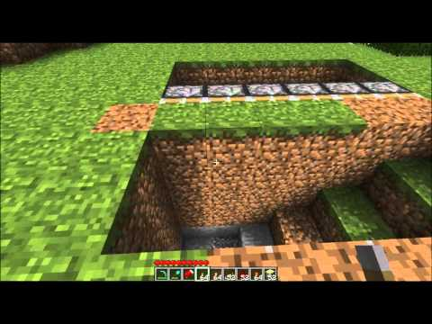 Minecraft: Tutorial | How to Build a Sliding Underground Base
