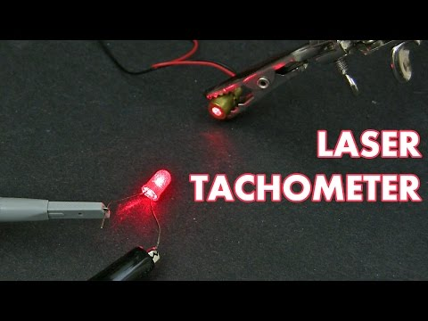 How to build a simple laser tachometer
