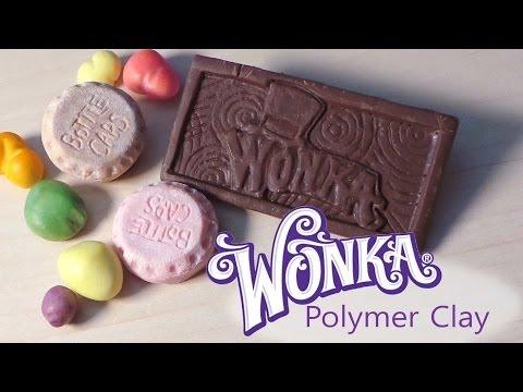 Wonka Bar, Bottle Caps & Nerds - Polymer Clay Tutorial