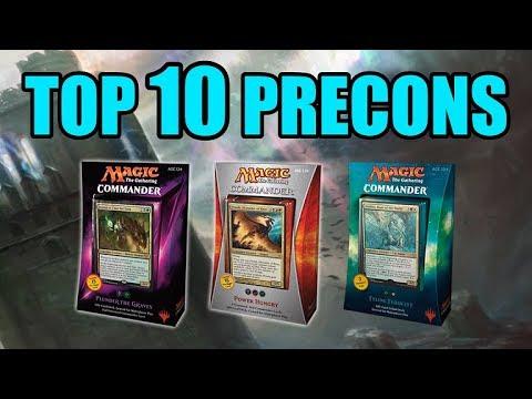 Top Ten MTG: Best Precon Decks For Commander