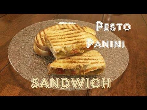 Pesto Panini Sandwich Recipe | Vegan - Cooking Videos | Lunch or dinner recipes
