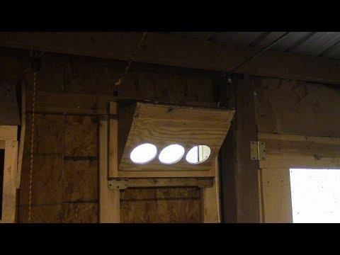 Homemade Homing Pigeon Trap Door