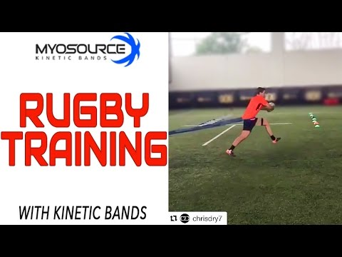 Rugby Speed Training to increase explosive power | Resistance Bands workout | Kinetic Bands