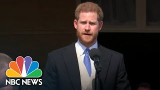 Watch Prince Harry And Meghan Markle Make First Appearance Since Wedding | NBC News