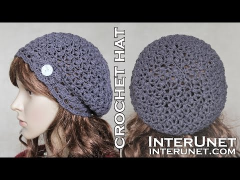 Crochet slouchy hat – pattern for beginners