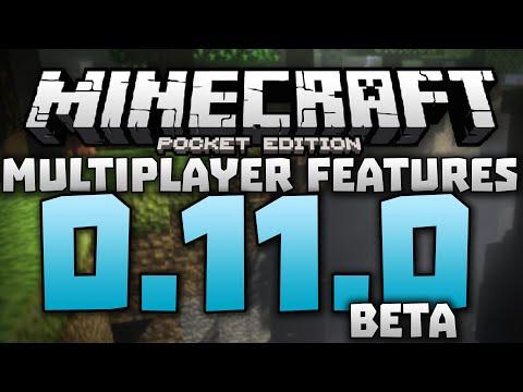 MULTIPLAYER FEATURES!!! - 0.11.0 Multiplayer Server Gameplay - Minecraft PE (Pocket Edition) Beta