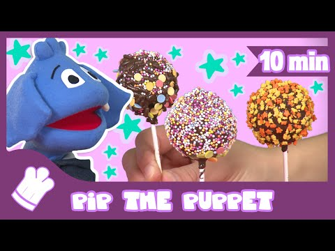 How to Make Delicious Cake Pops Recipe | Pip The Puppet