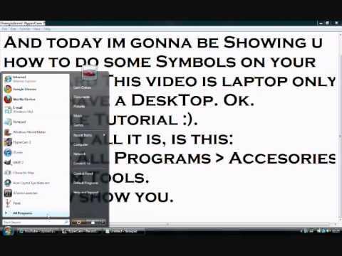 Keyboard Symbols Tutorial -PART 1- (Laptop)