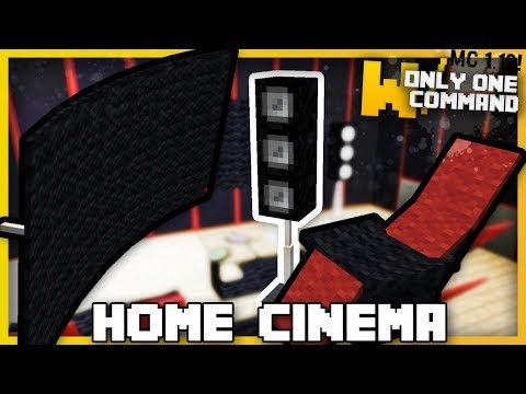 Minecraft - HOME CINEMA GEAR With Only Two Command Blocks!