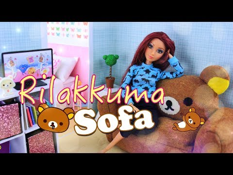 DIY - How to Make: Gudetama Rilakkuma Sofa | Kawaii Dollhouse Furniture
