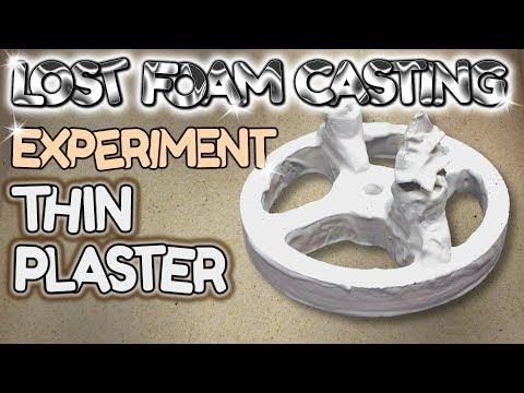 Lost Foam Casting Thin Plaster Coat Experiment - by VegOilGuy
