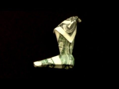 Dollar Origami Boot Tutorial - How to make a Dollar Boot