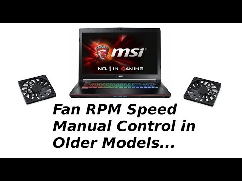 How to manually control msi laptop fan rpm speed
