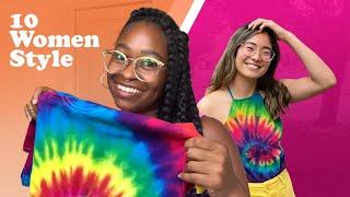10 Women Style The Same Tie-Dye Shirt