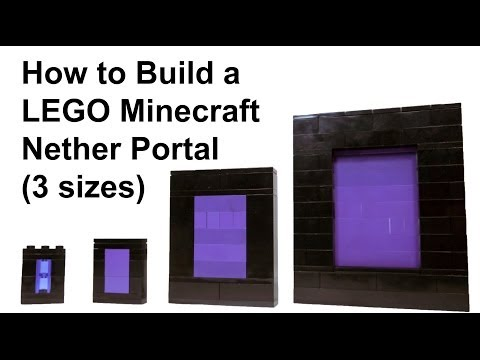 How To Build LEGO Minecraft Nether Portal