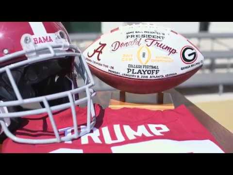 President Trump Hosts 2017 NCAA Football National Champions the Alabama Crimson Tide