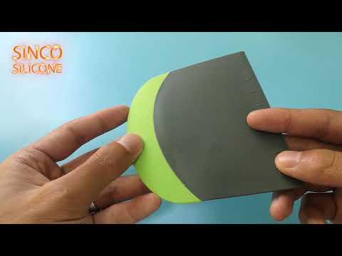 silicone dough scraper / silicone food scraper / silicone kitchen scraper