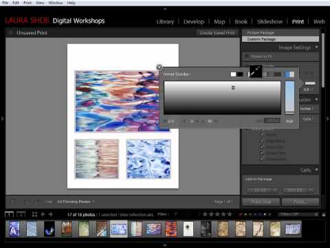 Lightroom: Using the Custom Print Package Layout Style to Create Freeform Photo Layouts