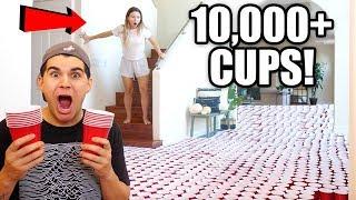 INSANE PRANK ON GIRLFRIEND! 10,000+ RED CUPS **PRANK WARS**