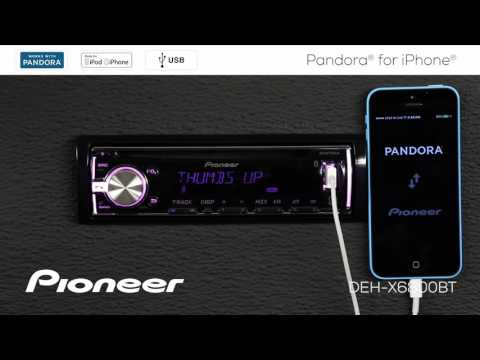 How To - DEH-X6800BT - Pandora for iPhone