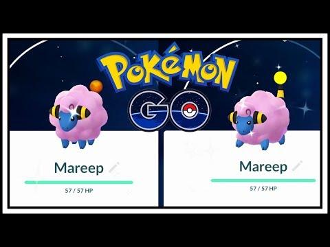Shiny Mareep in Pokemon GO! LIVE Shiny Mareep Reaction with Bradyoactiv
