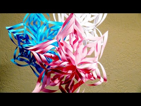 PAPER CRAFTS FOR KIDS How to Make Paper Snowflakes ✼ Pink Snowflake ✼ Paper Crafts