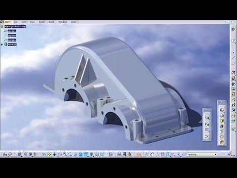 Upper gearbox casing - Part Design - CATIA V5