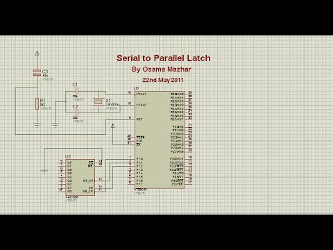 74HC595 Based Serial-to-Parallel Latch Using 89C51 Microcontroller