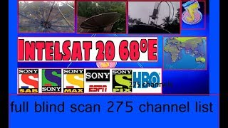 Multi lnb Installation Intelsat 17 - 66E and Intelsat 20 - 68 5E - 8