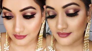 Indian Party Makeup Glitter eye makeup for wedding | पार्टी मेकअप शादी फंक्शन्स के लिए कैसे करें