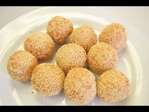 Golden sesame balls jian dui 煎堆的做法