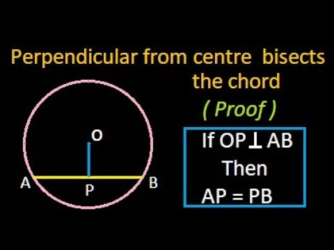 Perpendicular from the centre bisects the chord | proof |IBPS | Bank PO | SSC
