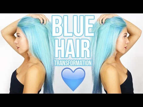 BABY BLUE HAIR!! How To Dye Your Hair Blue!