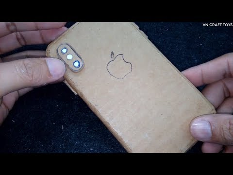 Iphone X - How to make apple iPhone X From Cardboard